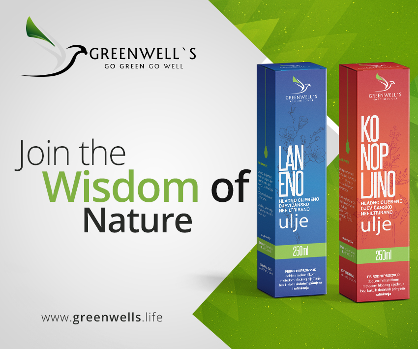 Greenwells -prirodno laneno, čorokotovo, konopljino ulje